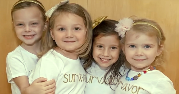 These 4 Little Girls Reunite After They Beat Cancer in the Same Hospital - See Their Story